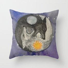 Skoll and Hati Throw Pillow