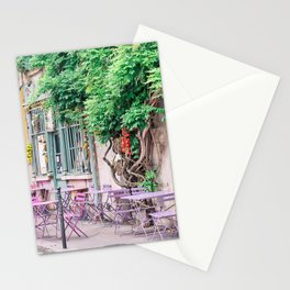 Colorful Parisian Cafe Scene Stationery Cards