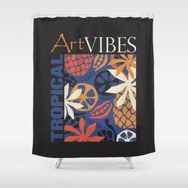 Tropical Art Vibes Shower Curtain