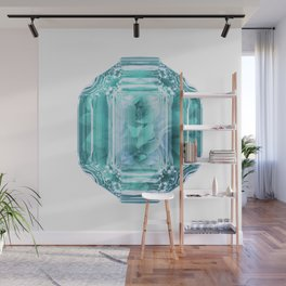 Aquamarine Rose Crystal Wall Mural