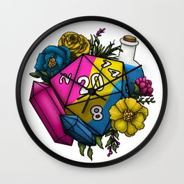 Pride Pansexual D20 Tabletop RPG Gaming Dice Wall Clock