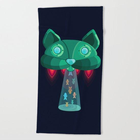 CatShip Beach Towel