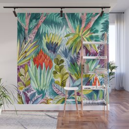 Jungle with pink trees Wall Mural