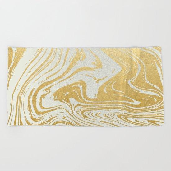 Gold Rush #society6 #decor #buyart Beach Towel