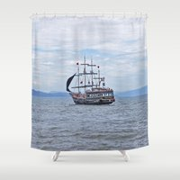 pirate Shower Curtains featuring Pirate by Caio Trindade