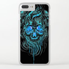 Winter Ice Skeletons Clear iPhone Case