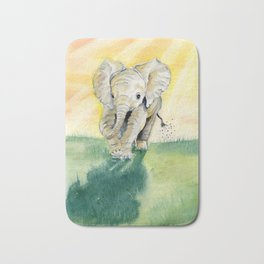 Colorful Baby Elephant Bath Mat