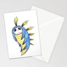 Blue Impworm Stationery Cards