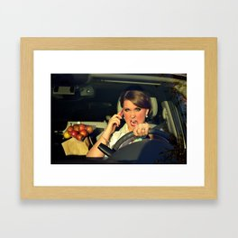 Road Rage Framed Art Print