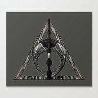 deathly hallows Canvas Prints featuring Master of Death by Talesanura