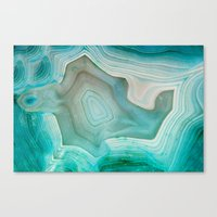 green Canvas Prints featuring THE BEAUTY OF MINERALS 2 by Catspaws