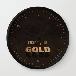 reach your GOLD Wall Clock