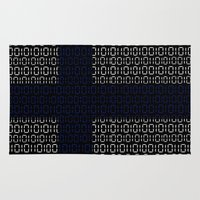 finland Area & Throw Rugs featuring digital Flag (Finland) by seb mcnulty
