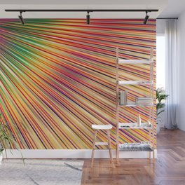 Rainbow rays, abstract print, diagonal lines Wall Mural