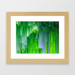 Nature Glitchin' - Abstract Pixel art Framed Art Print