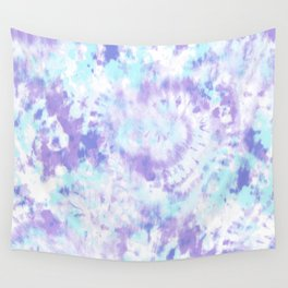 Blue and Purple Tie-Dye Wall Tapestry