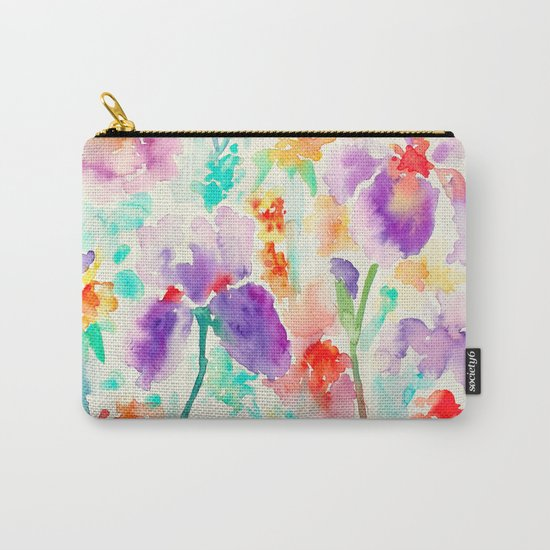 Abstract Flowers 03 Carry-All Pouch