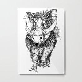 Hog Metal Print
