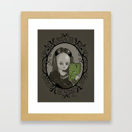 Mary Shelley and Creature Framed Art Print