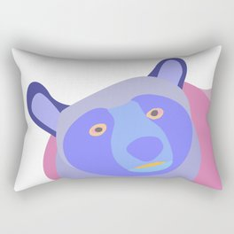 Bear in mixed colors Rectangular Pillow