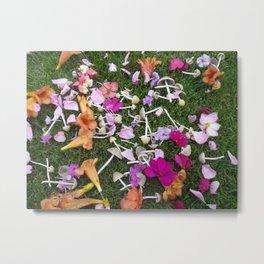 Mushrooms and Flowers Springtime Fairy Metal Print
