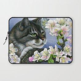 Tabby and Apple Blossom Laptop Sleeve