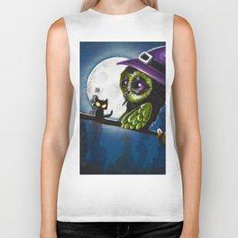 owl witch Biker Tank