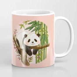Panda under sunlight - Pink Coffee Mug
