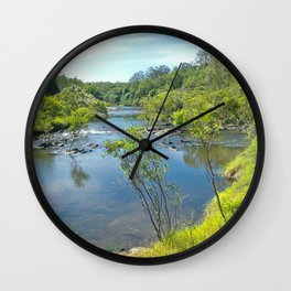 Magnificent tranquil river Wall Clock