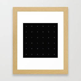BLACK + neon pixels/ minimal Framed Art Print