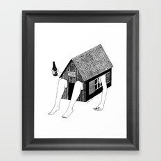 Sunday Chilling Framed Art Print