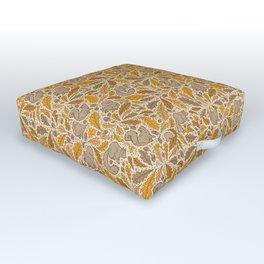 Oak & Squirrels | Autumn Yellows Palette Outdoor Floor Cushion