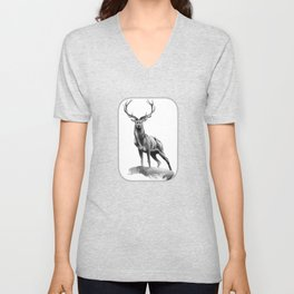 All Muscle - Red Deer Stag Unisex V-Neck