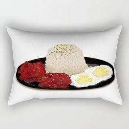 Tocilog (tocino, egg, fried rice) -filipino food Rectangular Pillow