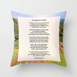 Freedom's Path Poem Throw Pillow