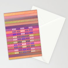 Leaves pattern in multicolor Stationery Cards