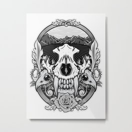 old scull Metal Print
