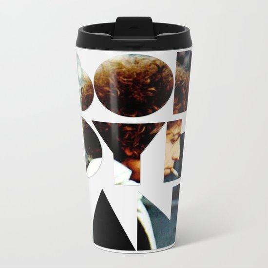 Bob Dylan Font Colour Metal Travel Mug