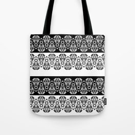 Black and white lace pattern . Tote Bag