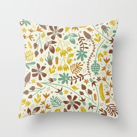 Autumn Blooms Throw Pillow