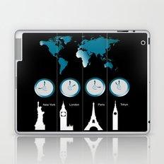 TIME ZONES. NEW YORK, LONDON, PARIS, TOKYO Laptop & iPad Skin