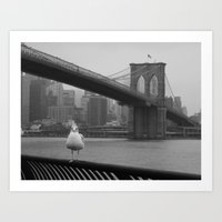 dumbo Art Prints featuring dumbo by Gray