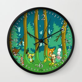 Deep inside the Forest Wall Clock