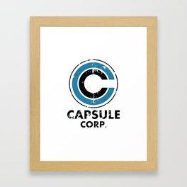 Capsule Corp Vintage bright Framed Art Print