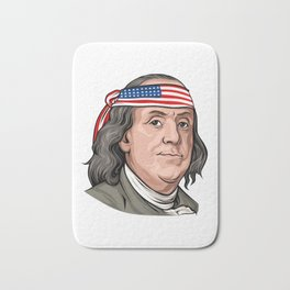 Benjamin Franklin 4th Of July Independence Day American Bath Mat