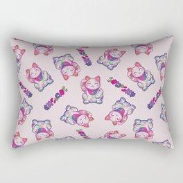 Maneki Neko Cotton (Bare Version) Rectangular Pillow