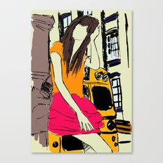 miss the bus Canvas Print
