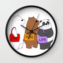 Tote Life Wall Clock