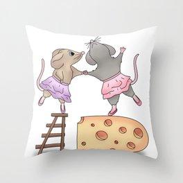 Petites souris Throw Pillow