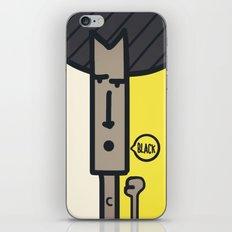 BLACK! iPhone & iPod Skin